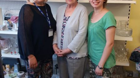 Brandon Day Care Appeal shop co-manager Ellen Parker, trustee Denise Williams and manager Anastasia