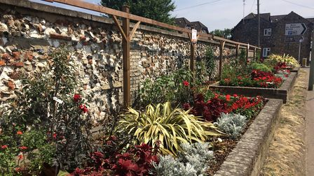 The Wedge. One of the areas which Brandon In Bloom showed off to the Anglia In Bloom judges. Picture