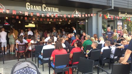 England v Sweden at Grand Central in Thetford and On The Green Thetford. Picture: Rebecca Murphy