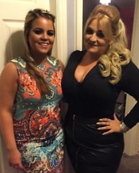 Megan Casey, right. will be representing Norfolk at the Miss British Beauty Curve Pageant. Picture: