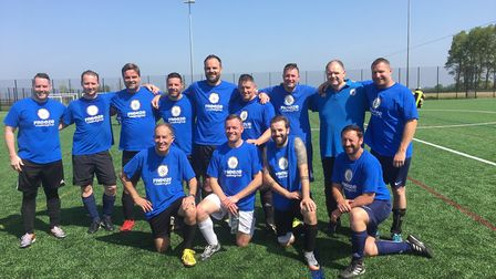 The Brandon veterans football teams. Picture: Andrew Goddard
