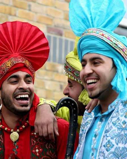 The Jugnu Bhangra Dancers, dressed in their traditional folk Punjabi costume, will be performing at