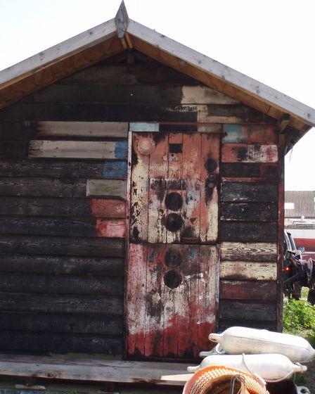 The door on the fisherman's hut in Felixstowe Ferry which inspired Annette Morgan's quilt. Picture: