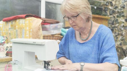 Textile artist Annette Morgan has been shortlisted for a major international prize. Picture: Ian Bur