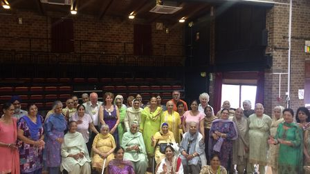 Some of the 40 women from the Guru Nanak Day Centre, Gravesend, and the Milan Day Centre, Dartford,