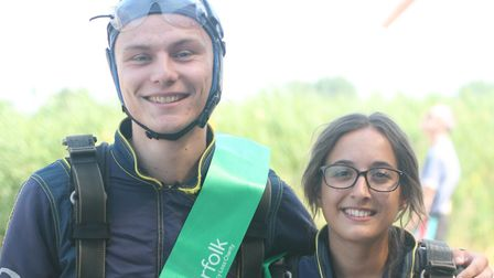 Kieran John and Ashlie Cox from Howes Percival Solicitors in Norwich who took part in the TimeNorfo