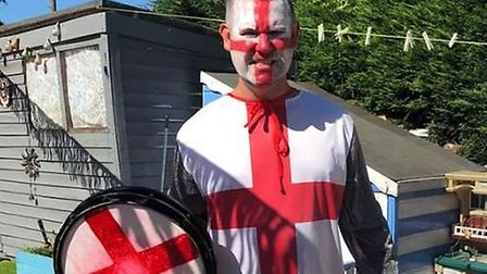Gary Wharf will be leading the chants during the England v Croatia game. Picture: Gary Wharf