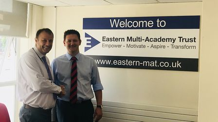 Dr Duncan Ramsey, chief Executive officer for Eastern Multi - Academy Trust with Kevin Blakey. Pictu