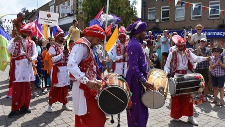Procession at Festival of Theford & Punjab. Picture: Essex Cultural Diversity Project