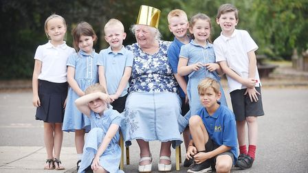 Dinner lady Pamela Allen is retiring from Mundford Primary School after 44 years. Picture: Ian Burt