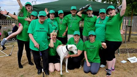 The Mildenhall Lodge team at Care UK's Suffolk sports day. Picture: Lucy Taylor Photography