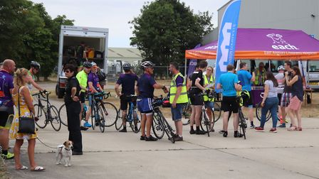 Cyclists have completed the three-day Ride for Life challenge for EACH. Picture: James West/Full Mix