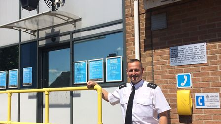 Chief Inspector Paul Wheatley outside Thetford police station. Picture: Rebecca Murphy
