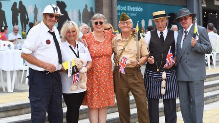 The Lively Crew host a tea party on thetford's riverside sponsors by Manorcourt Homecare.Byline: Son