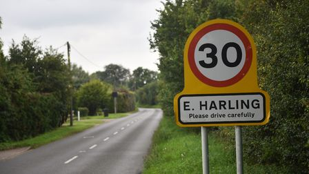 East Harling village sign. Picture : ANTONY KELLY