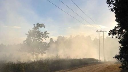 Firefighters tackling the blaze off Norwood Road in Brandon. Picture: Paul Meader
