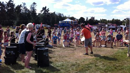 Drum Works perform at VW Whitenoise Festival at Euston Park. Picture: Archant library