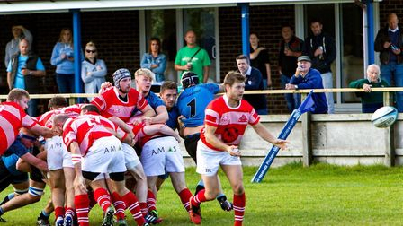 Mark Laws and the Thetford RFC team. Picture: Thetford Rugby Club