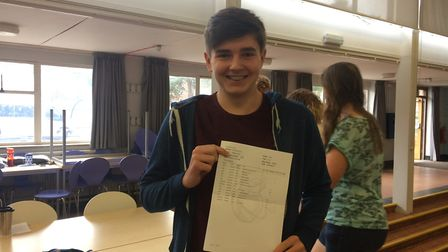 IES Breckland student Will Pik is off to Downham Market Academy sixth form. Picture: Rebecca Murphy