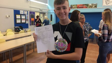 Jack Wilson, IES Breckland student, was pleased with his GCSE results which included two eights in s