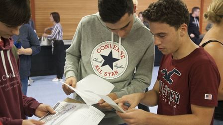 Mildenhall College Academy students opening their GCSEs. Picture: Mildenhall College Academy