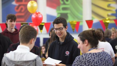 Iceni Academy pupils picking up their GCSE results. Picture: Iceni Academy