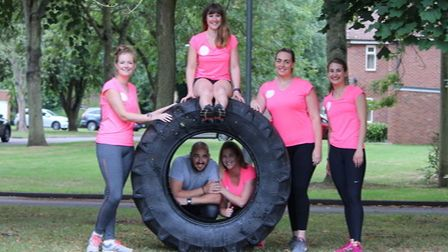 A team of five girls from RAF Honington will be taking on the gruelling challenge of flipping an 80k