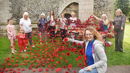 Brandon in Bloom are aiming to cover St Peter's Church tower with thousands of knitted, crocheted an