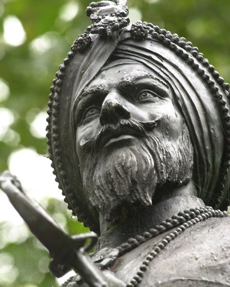 The impressive statue of Duleep Singh situated on Thetford's Butten Island. Picture: Denise Bradley