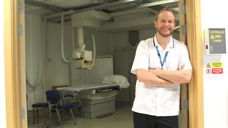 Ed Kirkham, senior radiographer at West Suffolk NHS Foundation Trust, in the X-ray department based
