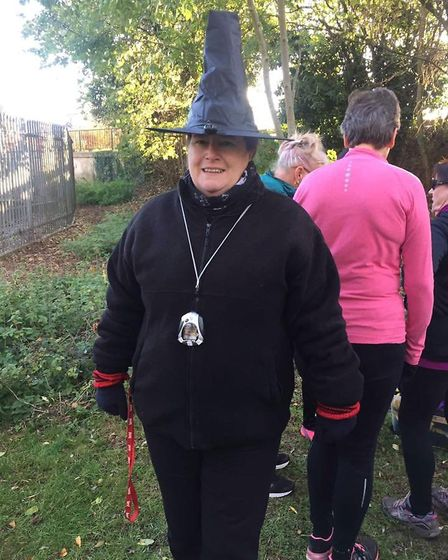 Runners bring out their spooky side at Thetford Parkrun at Thetford Priory on October 27. PHOTO: Geo