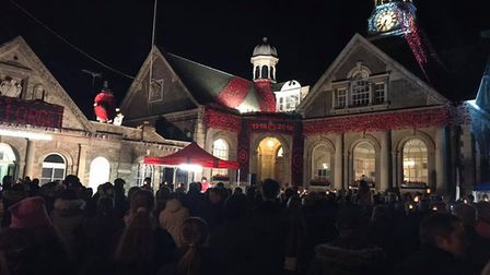 A torchlight took place in Thetford on Remembrance Sunday, followed by fireworks. PHOTO: Debs McNaug