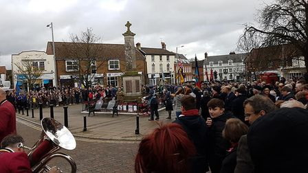 The remembrance parade in Swaffham. PHOTO: Trevor Cotton