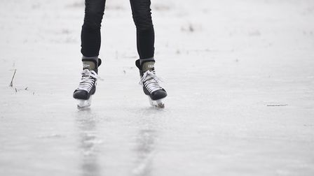 Ice skaters, here pictured in Welney, will be able to get back on the ice in Thetford this weekend.