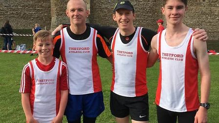 Thetford Athletics Club were represent at the Suffolk Cross Country League meeting at Framlingham Ca