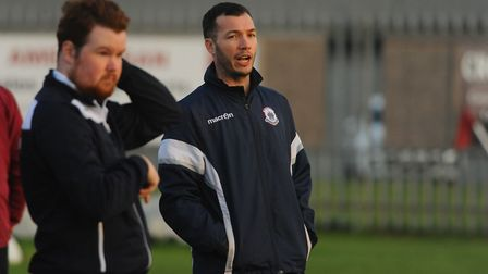 Thetford Town player manager Danny White was on target against Kirkley & Pakefield Picture: Denise B