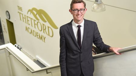 Thetford Academy principal Dan Carter who was praised by Ofsted inspectors after their latest visit