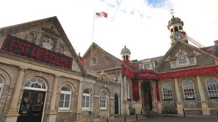 Thetford Guildhall decorated with thousands of poppies last year. Picture: SARAH LUCY BROWN