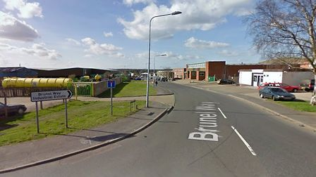 Fire crews were called to a suspected chemical incident at Brunel Way. Picture: Google