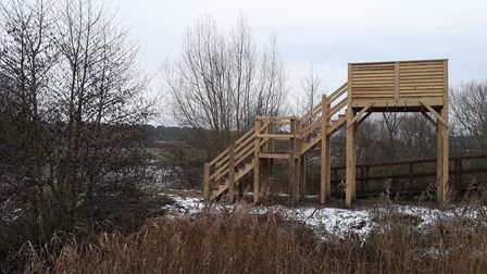 A new elevated viewing platform has been installed at the Nunnery Lakes Nature Reserve. Picture: Nic