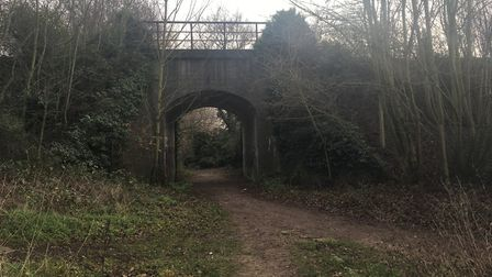 The underpass at Joe Blunt's Lane where a bus route could go through to serve 5,000 new homes. Pictu