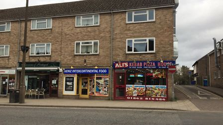 Ali's Kebab Shop on Brandon High Street has been given a zero food hygiene rating. PHOTO: Sophie Smi