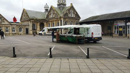 Shoppers were dismayed last Tuesday to find just two stalls at Thetford Market. PHOTO: Bernie O'Conn