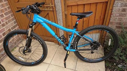 This 12-year-old's bike was stolen from St John's Way in Thetford on Saturday night. PHOTO: Emily Fu