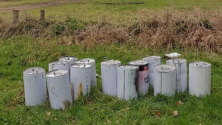 There has been a fly-tipping incident at the Devil's Punchbowl car park near Thetford. PHOTO: Nigel