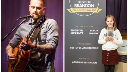 Local musician Alton Wahlberg who performed at the Best of Brandon awards night and Young Volunteer
