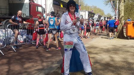 Stacey Harper finished the London Marathon in 3hrs 49 mins and secured a world record. Picture: Stac