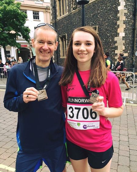 20-year-old Lucy Ring gearing up to run the London Marathon in memory of her dad. Photo: Lucy Ring