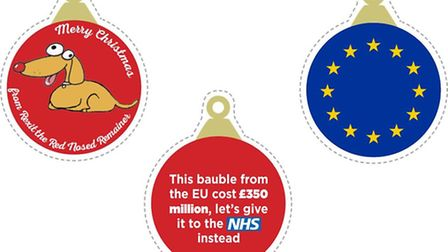 Print and cut out The New European Brexit baubles