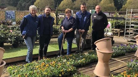 The Thetford Gardening Centre team will come round to do one lucky person's gardening. Picture: Thet
